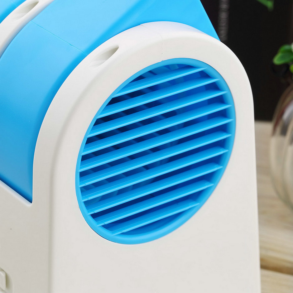 Small Air Fans : Mini small fan cooling portable desktop dual bladeless air