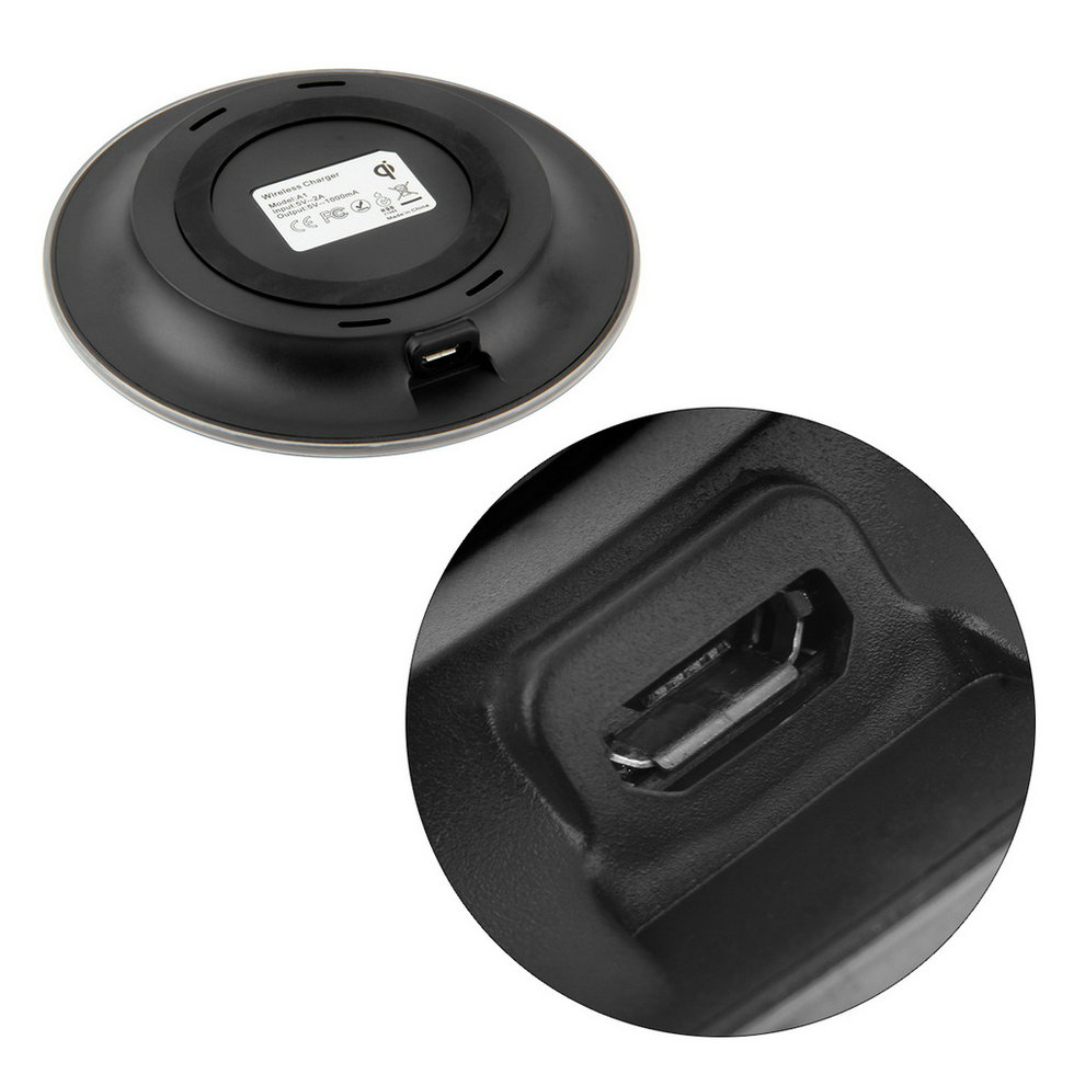 universal portable wireless charger charging pad mat for. Black Bedroom Furniture Sets. Home Design Ideas