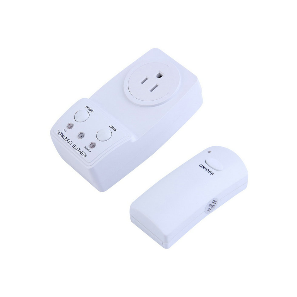 wireless remote control ac power outlet us plug switch for small appliances o4 ebay. Black Bedroom Furniture Sets. Home Design Ideas