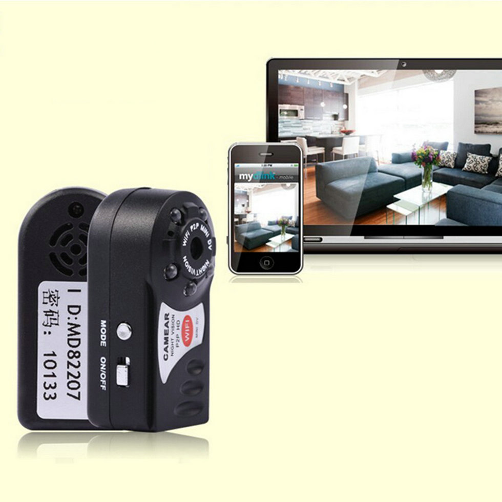 wireless wifi p2p mini remote surveillance camera security for android ios pc f5 ebay. Black Bedroom Furniture Sets. Home Design Ideas