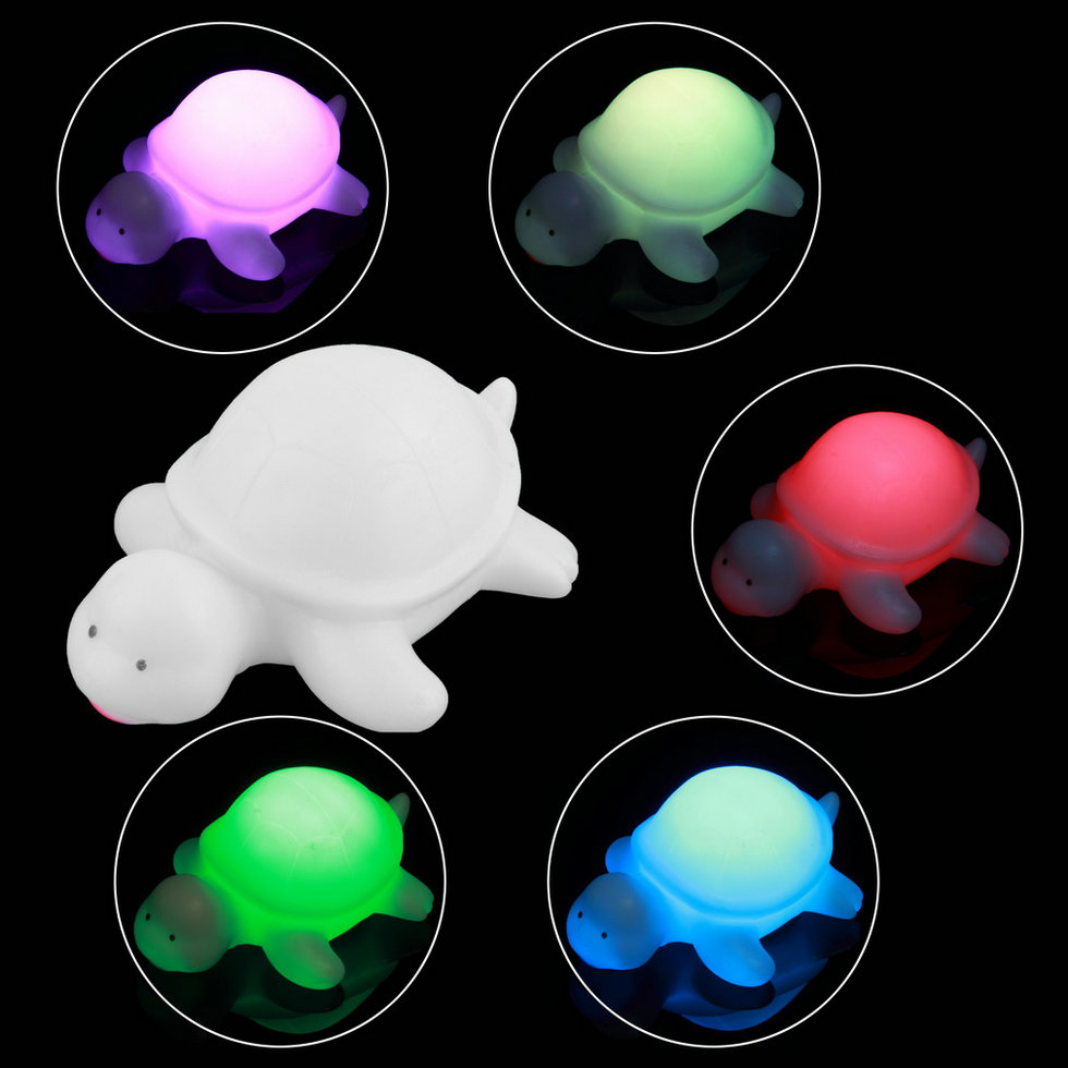 cute off white multi color change led light turtle mood. Black Bedroom Furniture Sets. Home Design Ideas