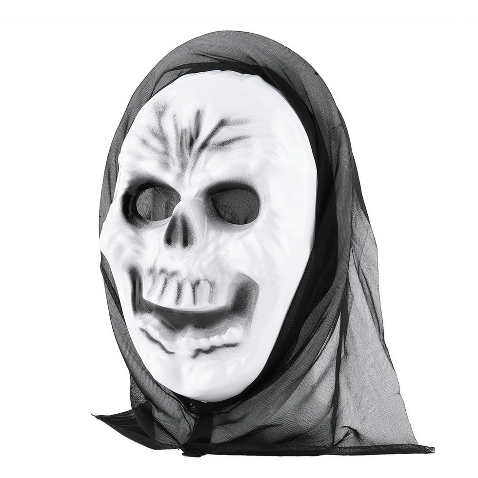 Scary Ghost Mask Scream Halloween Grimace Mask Fancy Party Props ...
