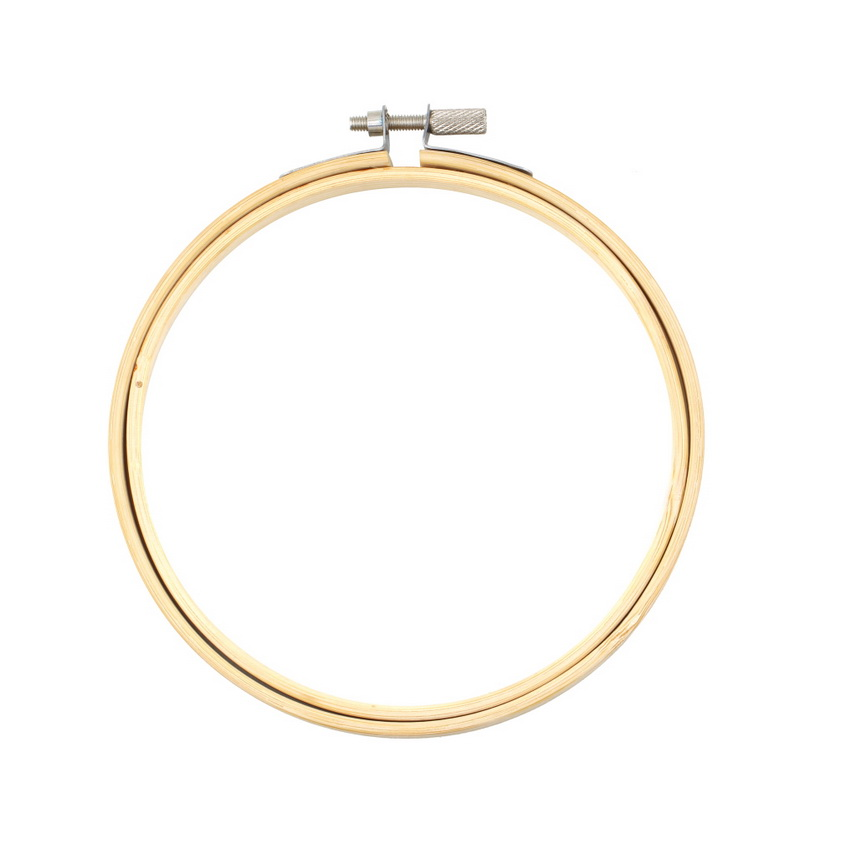 Wooden cross stitch machine embroidery hoop ring bamboo