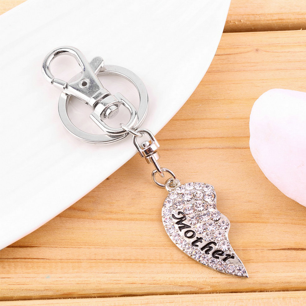 Hot Mom Mother & Daughter Best Friend Mother's Day Heart Keychain Charm Gift GD
