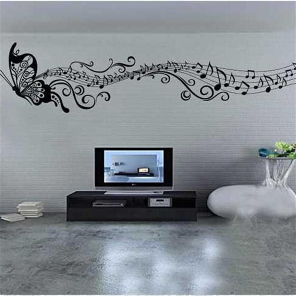 Beautiful Butterfly Music Note Vinyl Art Wall Stickers Home Wall Decals Gd Ebay