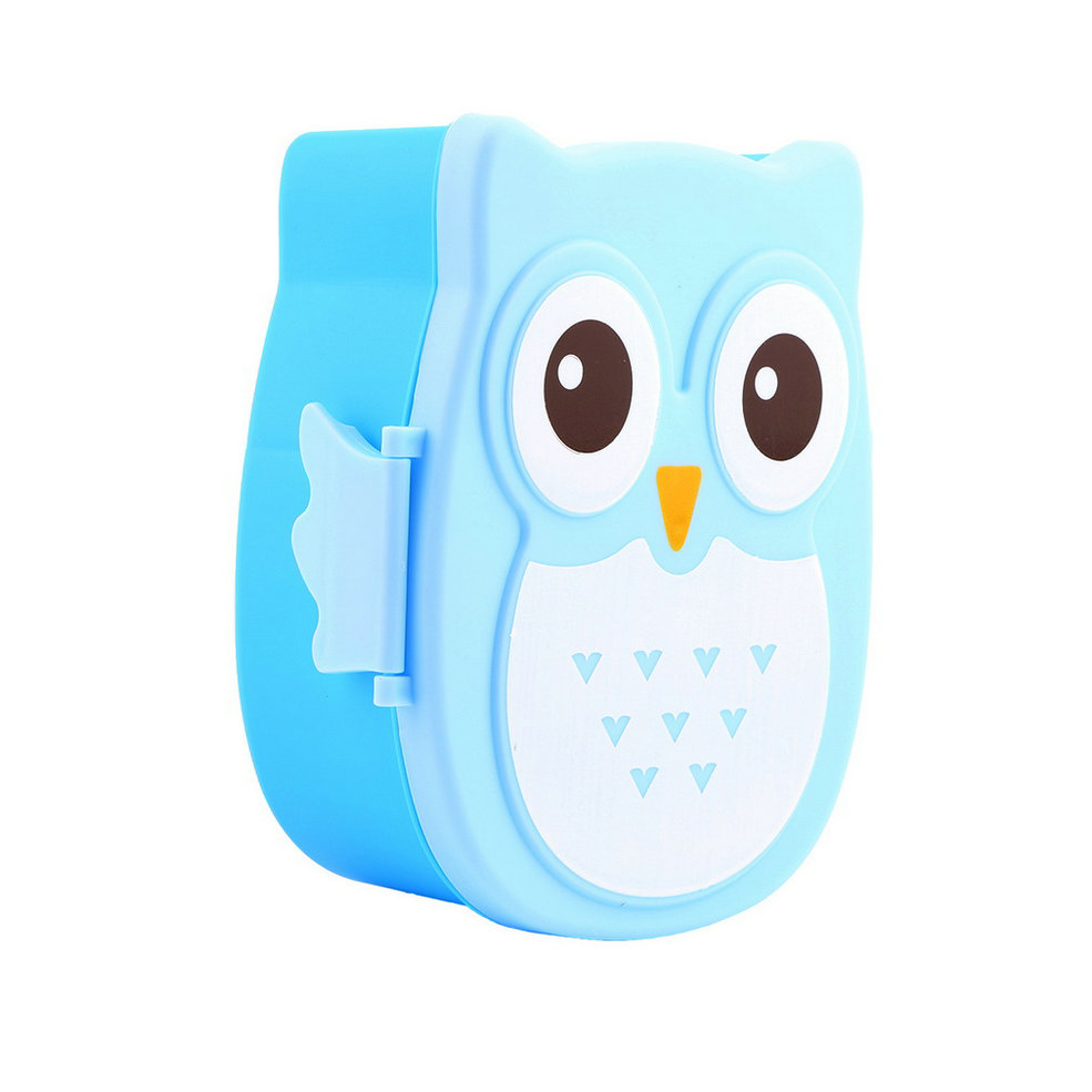 1050ml owl lunch box bento food safe plastic food picnic container portable box ebay. Black Bedroom Furniture Sets. Home Design Ideas
