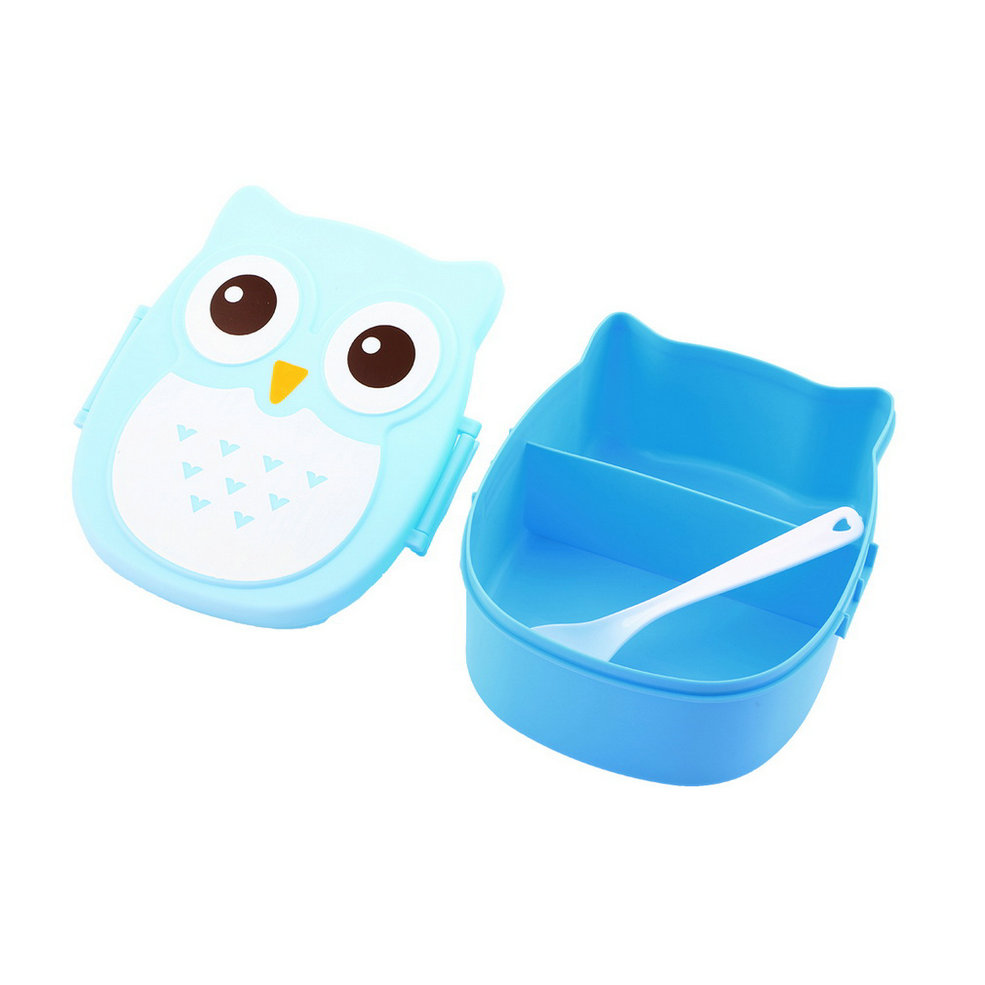 1050ml owl lunch box bento food safe plastic food picnic container portable ga ebay. Black Bedroom Furniture Sets. Home Design Ideas