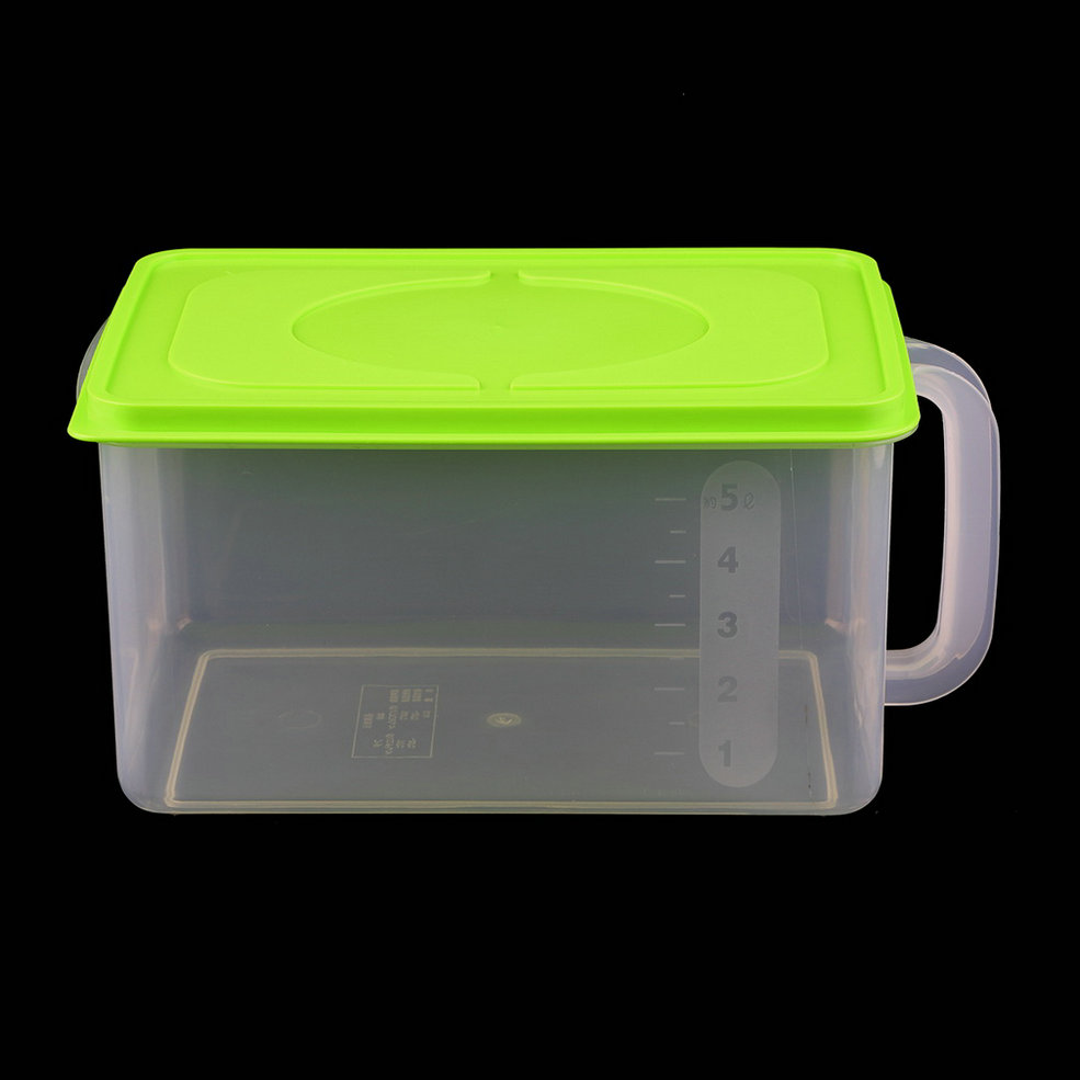 refrigerator airtight food storage clear plastic rectangle container box gd ebay. Black Bedroom Furniture Sets. Home Design Ideas