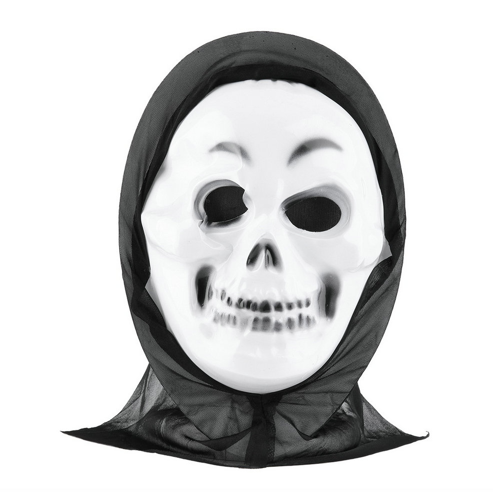 Ghost Face Mask with Shroud Scream Adult Mens Halloween ...