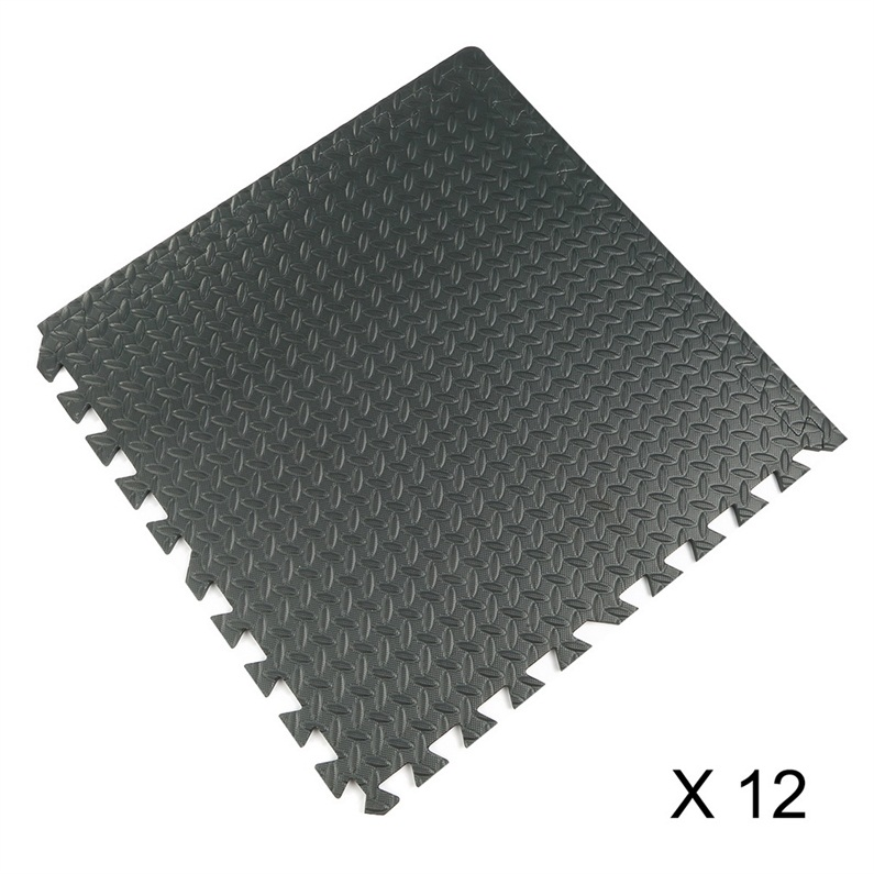 1pc Black Interlocking Eva Foam Mats Tiles Gym Play Garage