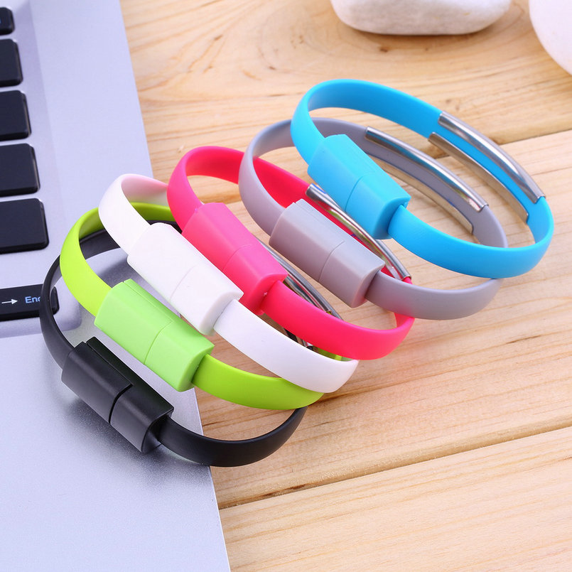Wristband Micro USB Cable Bracelet Data Charging Line For Cellphone Android I5