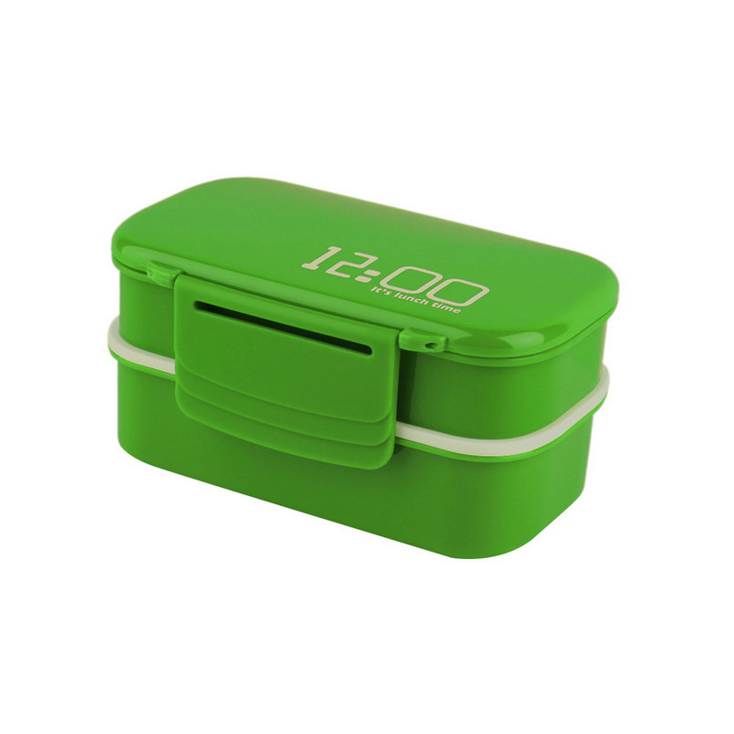 new portable 2 layers bento lunch box plastic food container lunch container p3 ebay. Black Bedroom Furniture Sets. Home Design Ideas