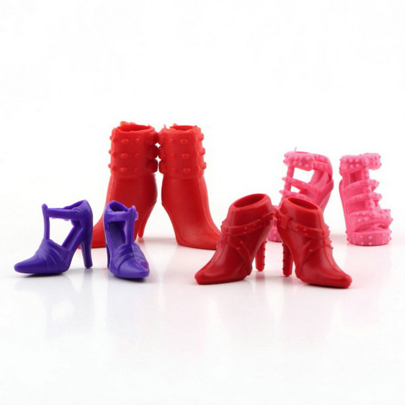 Colorful Assorted Shoes Different Styles Fashion 12 pairs Cute For Barbie Doll V