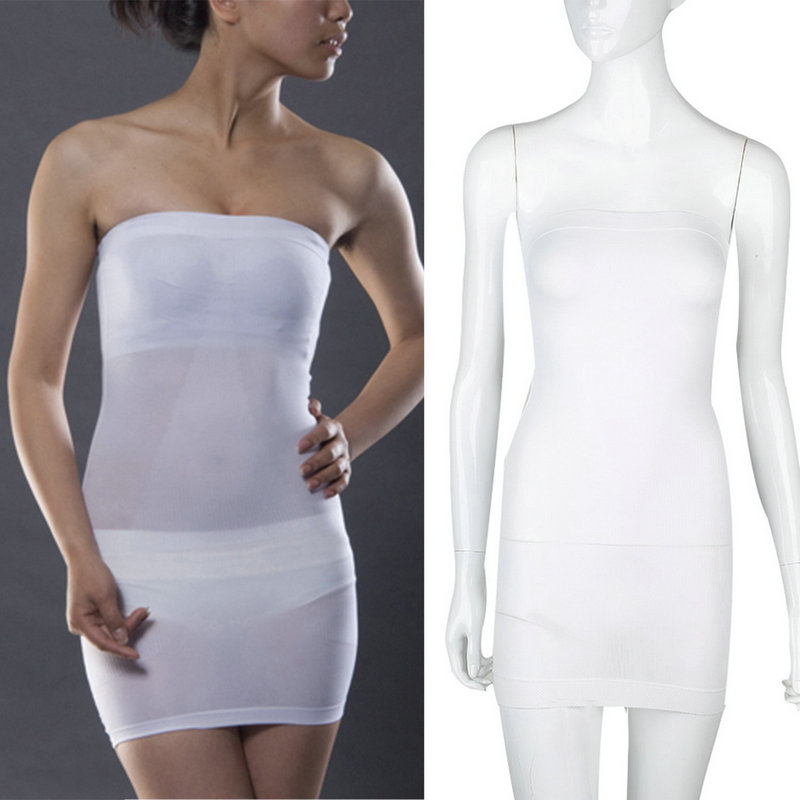 Wedding Seamless Strapless Full Slip Slim Dress Shapewear