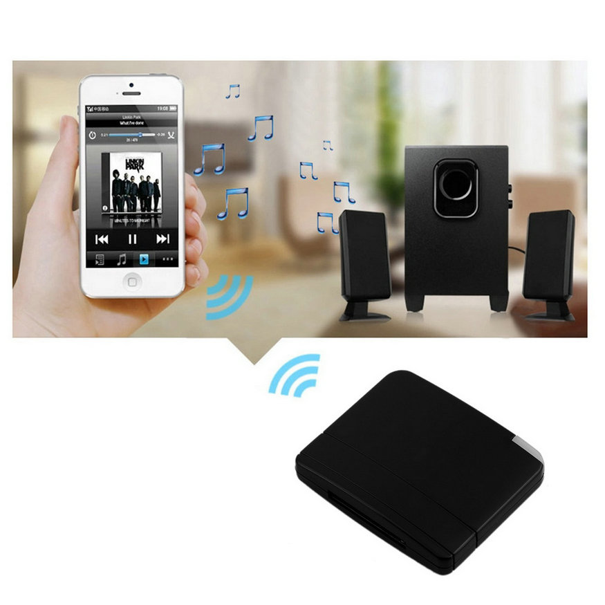 bluetooth musik audio 30pin empf nger adapter a2dp f r. Black Bedroom Furniture Sets. Home Design Ideas
