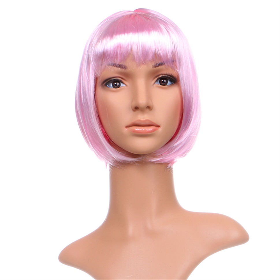 short bob cut fancy dress up party wigs role play costume ladies full wig de ebay. Black Bedroom Furniture Sets. Home Design Ideas