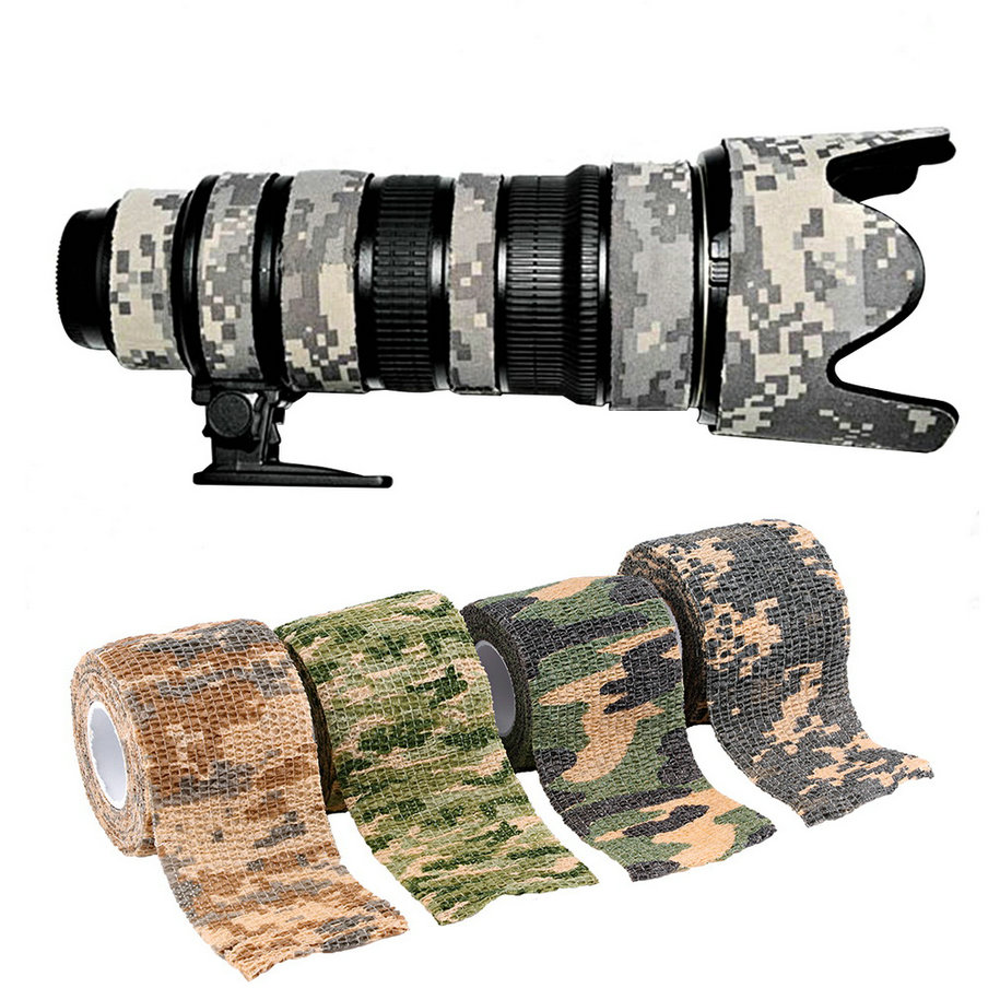 camouflage tape camo stealth wrap camping waterproof elastic hunt outdoor