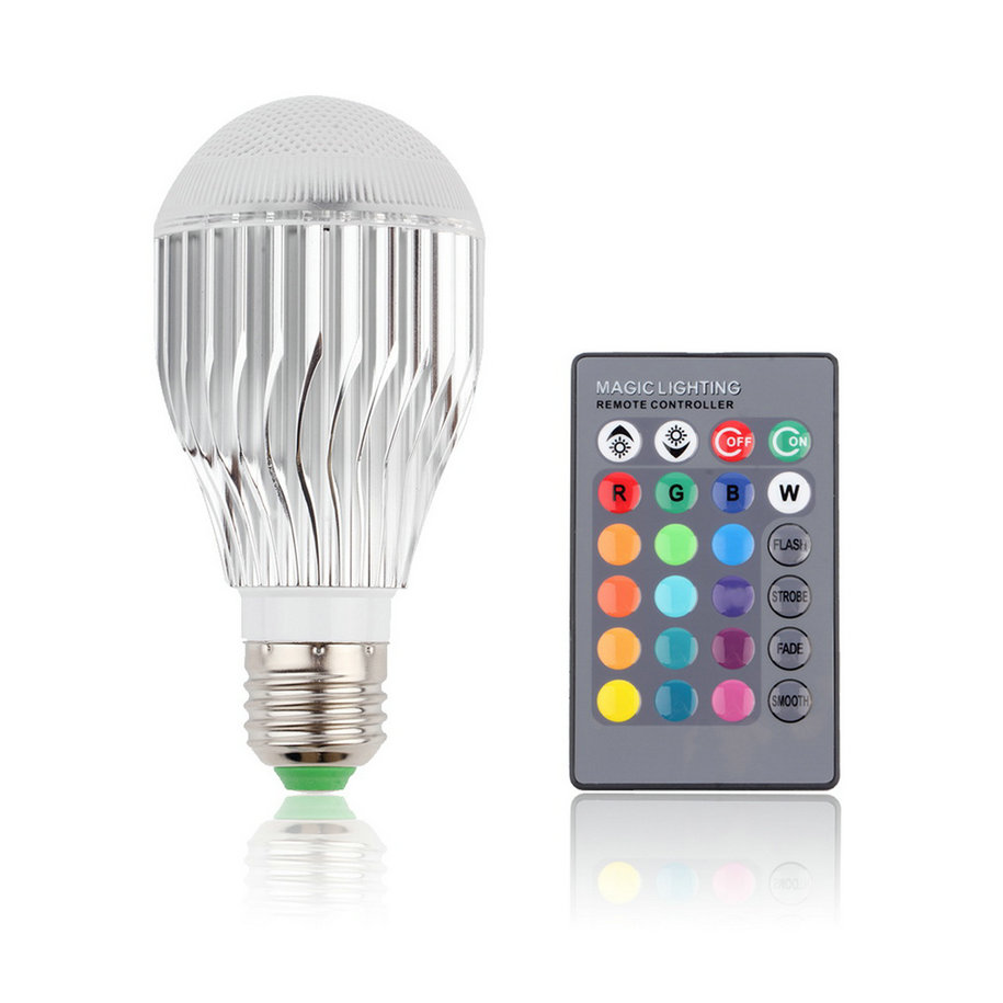 9w e27 multi color change rgb led light bulb lamp with remote control oe ebay. Black Bedroom Furniture Sets. Home Design Ideas
