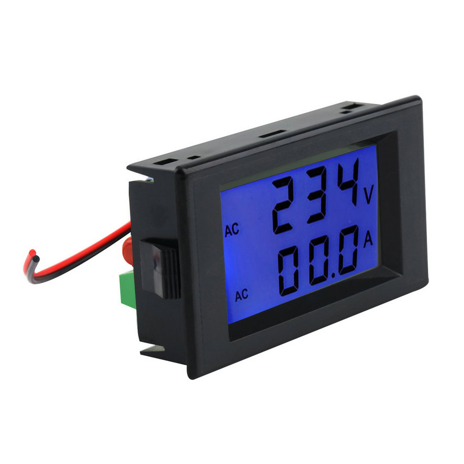 Ac Panel Meters : Ac digital ammeter voltmeter lcd panel amp volt meter a