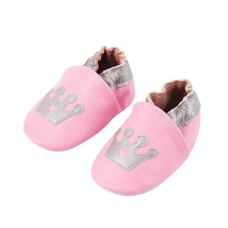 Cute Soft Leather Princess Crown Pattern Babies Toddler
