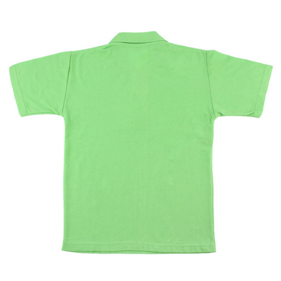 Solid Color Mens Lapel Polo Shirt Short Sleeve Casual Tee