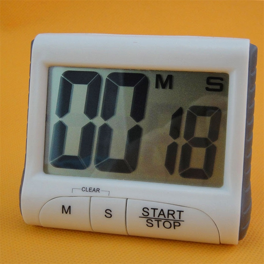 Large LCD Digital Kitchen Timer Count-Down Up Clock Loud