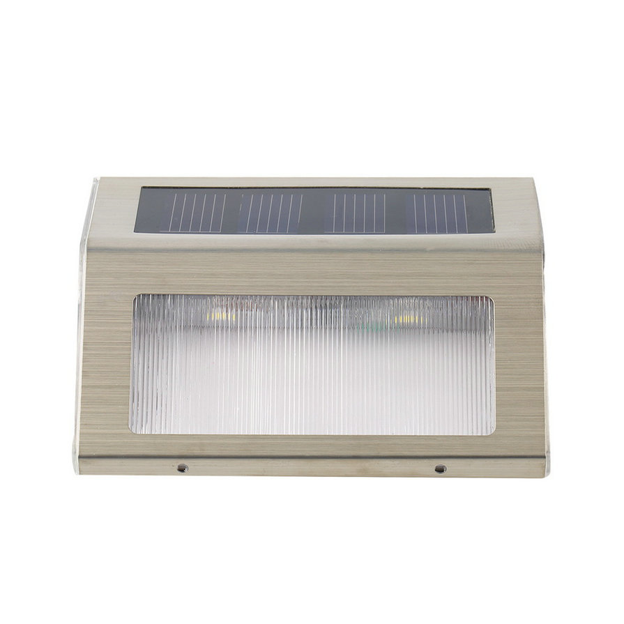 LED Solar Power Path Stair Outdoor Light Garden Fence Wall Landscape Lamp JH