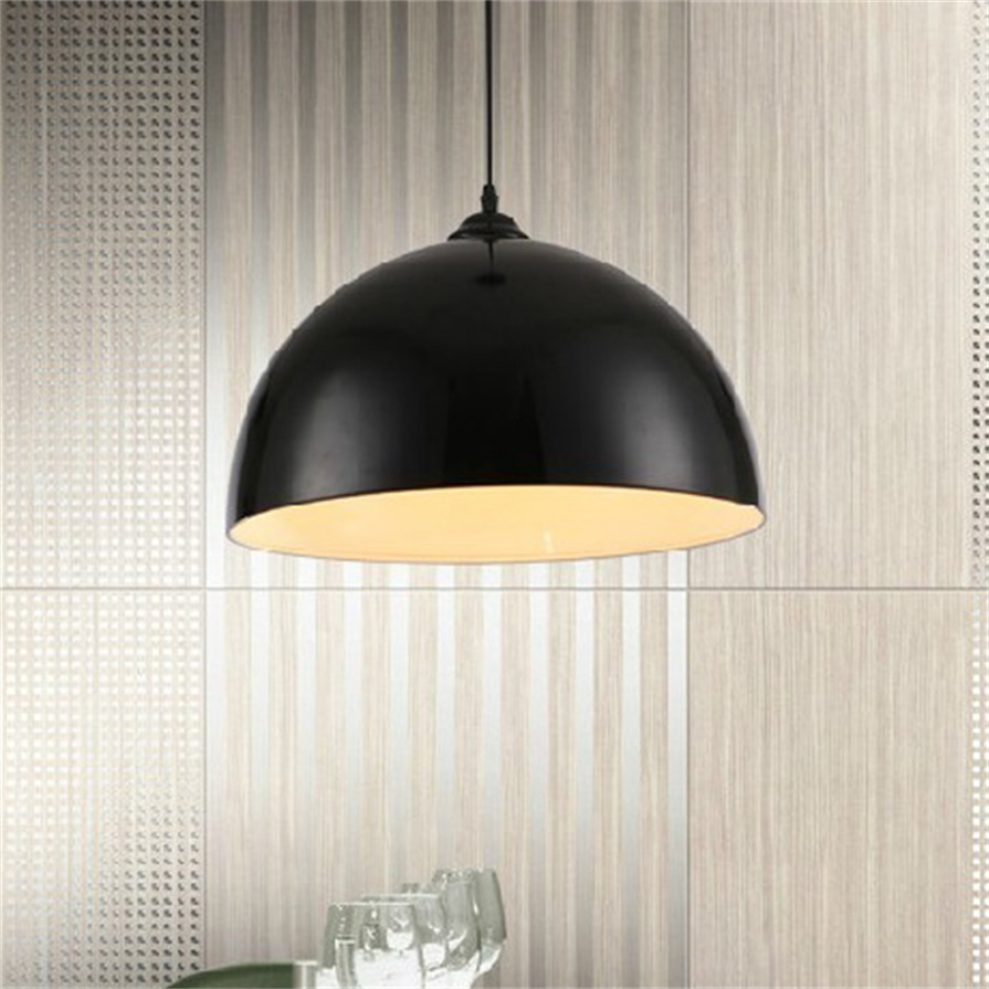 Lamp Shades For Ceiling Lights: Retro Style Black White Red Metal Ceiling Pendant Light