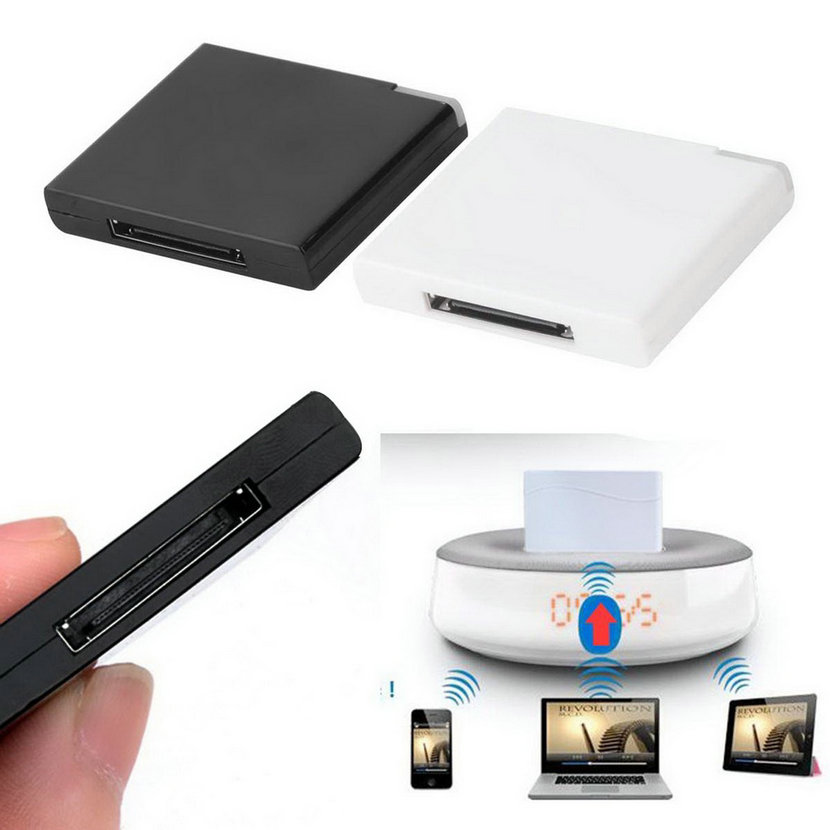 bluetooth a2dp music receiver adapter for ipod iphone 30. Black Bedroom Furniture Sets. Home Design Ideas