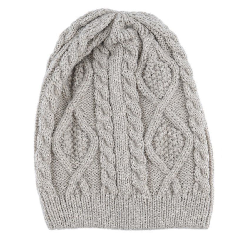 Women Warm Winter Beret Braided Baggy Beanie Knitted ...