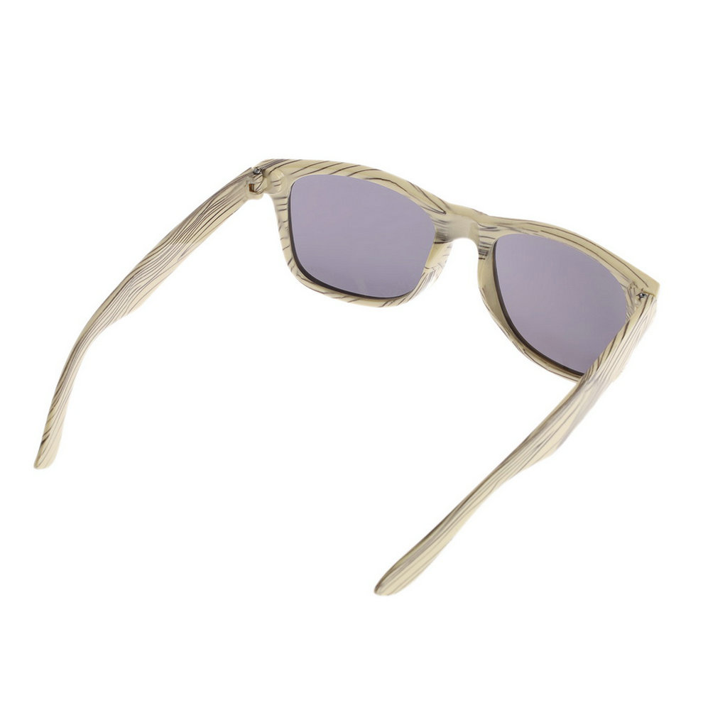 Women Men Imitation Wood Grain Frame Glasses Fashion ...