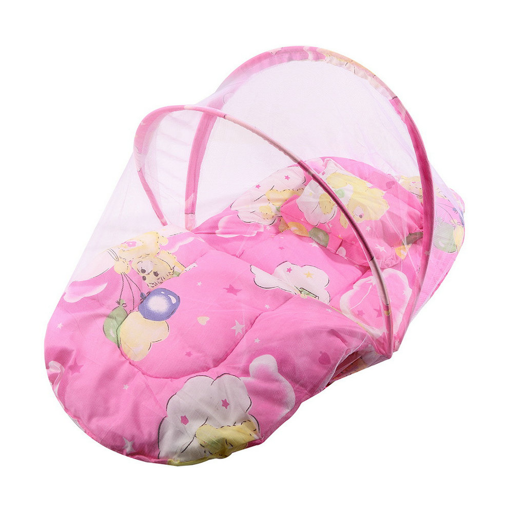 Baby bed and pillow - Foldable New Baby Cotton Padded Mattress Pillow Bed