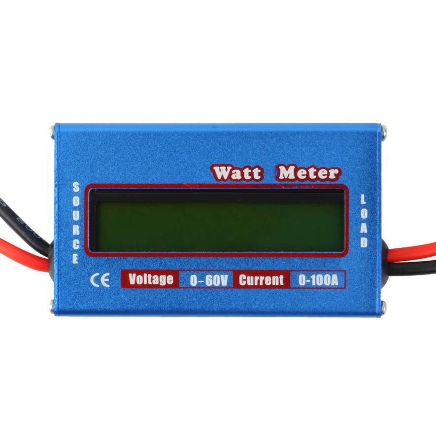 Watt Meter Inline: Digital LCD Watt Meter Battery Voltage Current Power