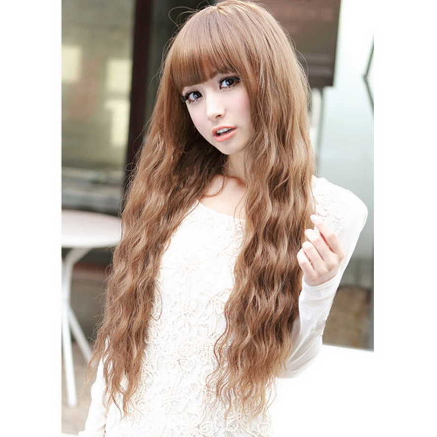 Womens Long Curly Wavy Hair Full Wigs Cosplay Party Easy