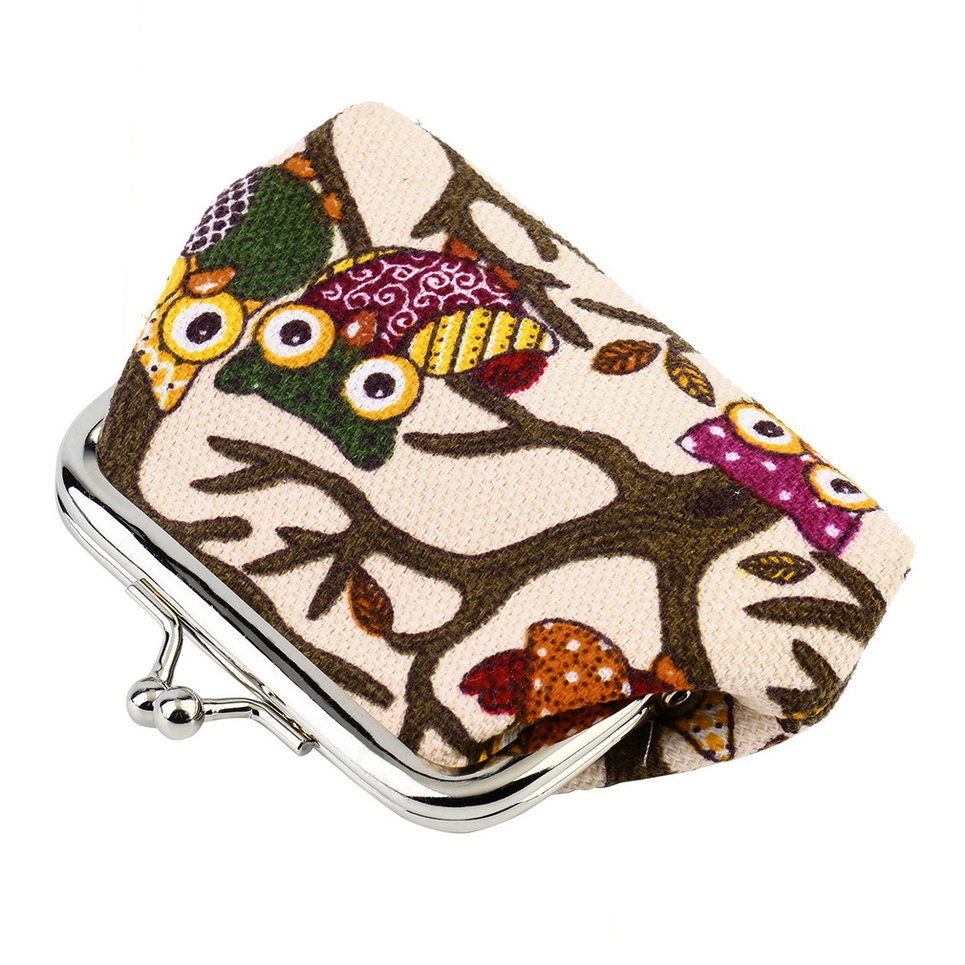 Awesome  About Women Owl Printed Coin Purse Wallet Canvas Pouch Money Bag HY