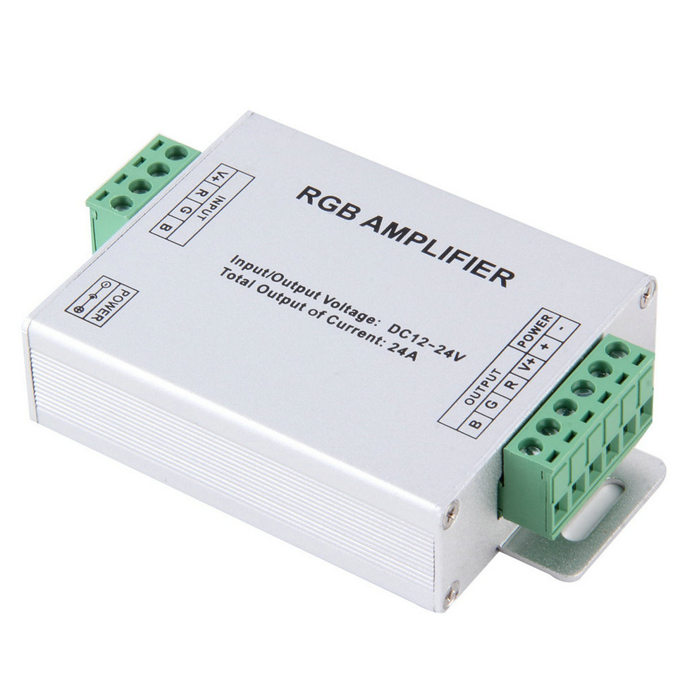 24a amplifier repeater for extend signal led 5050 3528 rgb. Black Bedroom Furniture Sets. Home Design Ideas