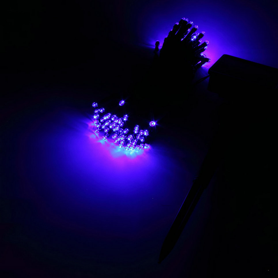 100 LED Solar Powered Fairy String Lights Decorative Out Door Lights EA eBay