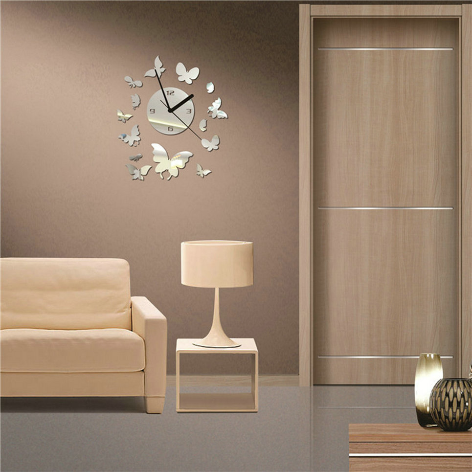 Butterfly Mirror Wall Decoration : Home decor combination sticker butterfly diy mirror wall