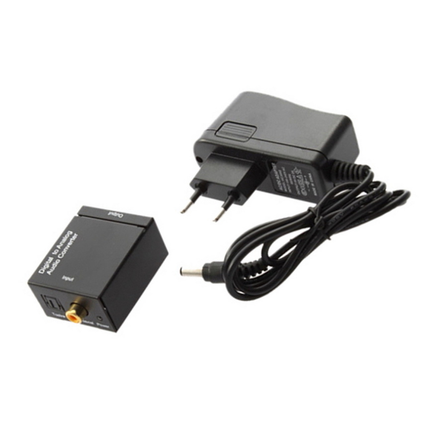 digital optical coaxial toslink to analog rca l r audio converter converts nw ebay. Black Bedroom Furniture Sets. Home Design Ideas