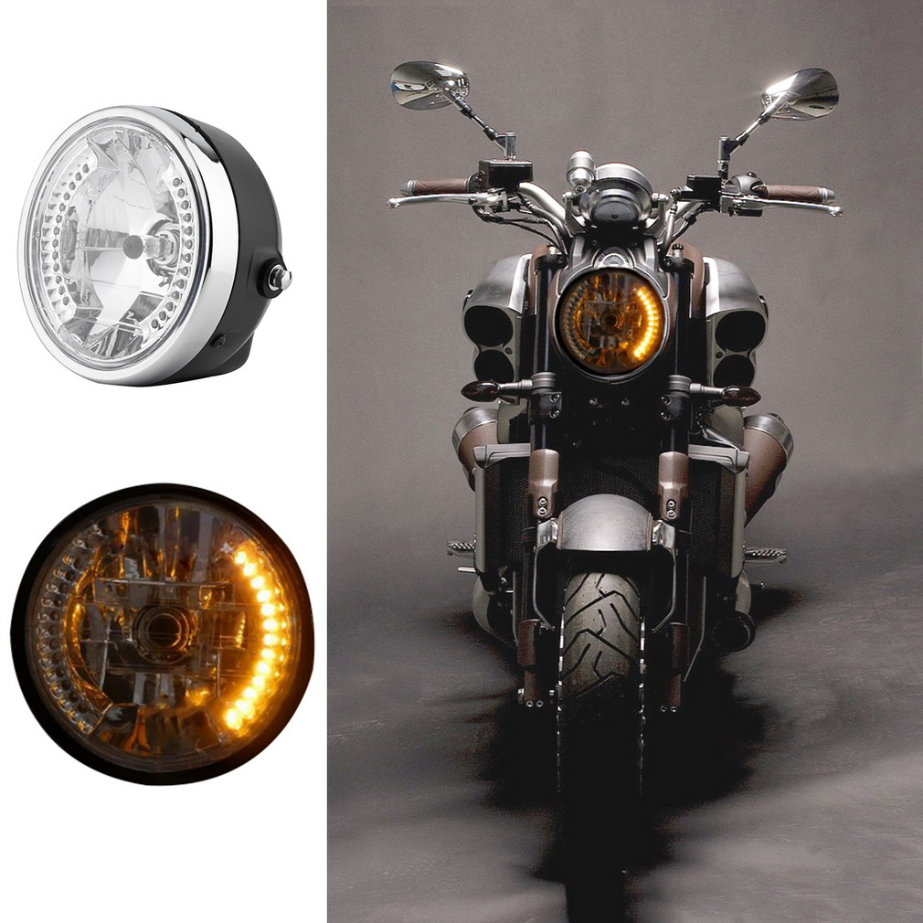8 39 39 light front phare moto phares led pour harley motorcycle achat vente phares optiques. Black Bedroom Furniture Sets. Home Design Ideas