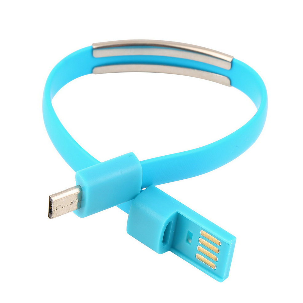 usb bracelet wristband micro usb cable bracelet data charging line for 4805